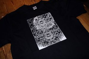 White ink on a Gildan Black Premium Cotton