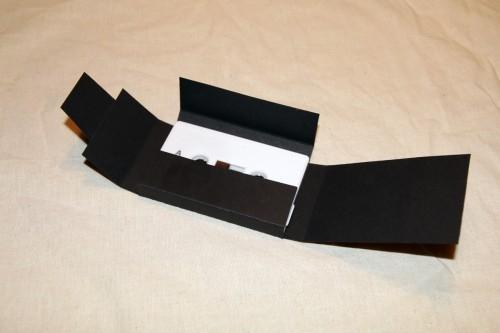 Matt black heavy cartboard (380g/m2) DIY cassette cover