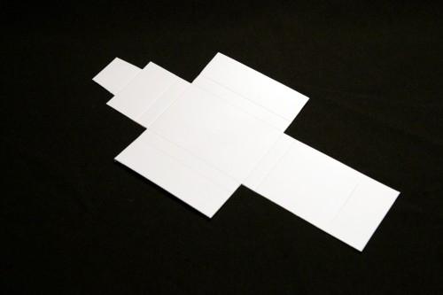 Semi-glossy white heavy cartboard (360g/m2) DIY cassette cover