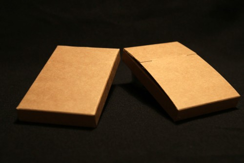 Brown kraft heavy cartboard (350g/m2) DIY cassette cover