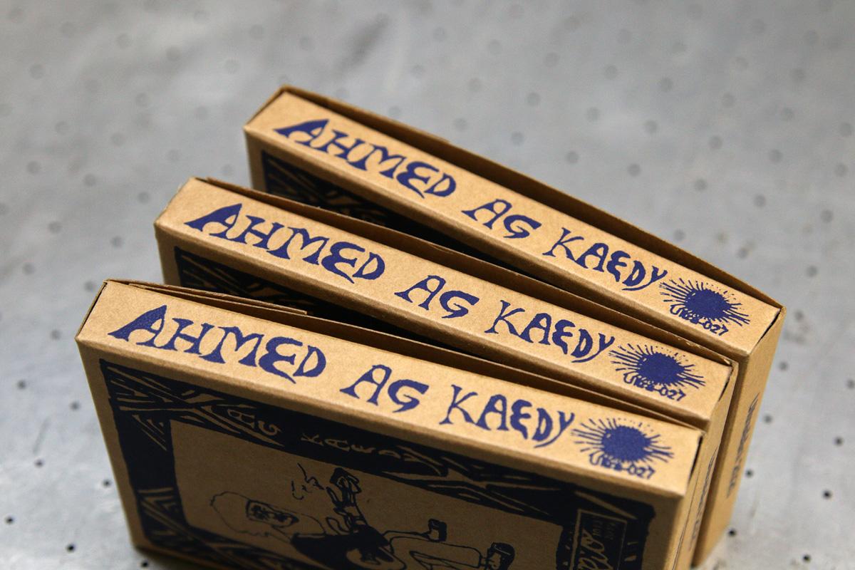 Ahmed Ag Kaedy - seripainettu kasettikotelo