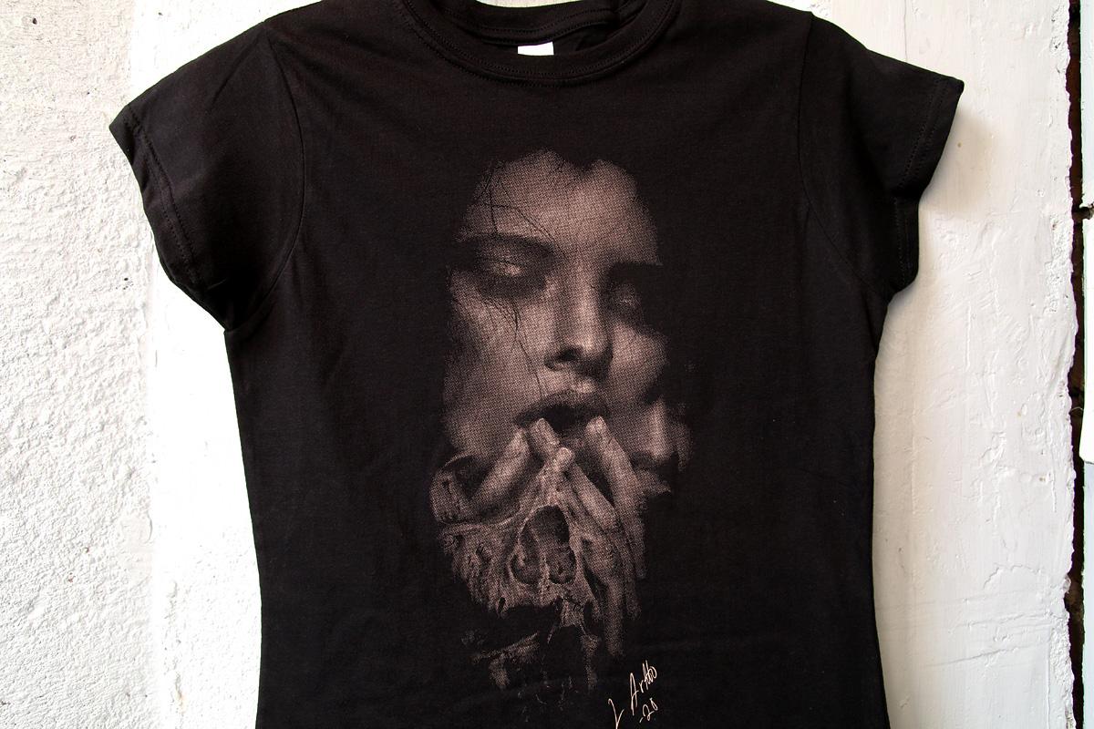 1-värinen rasteripainatus t-paitaan