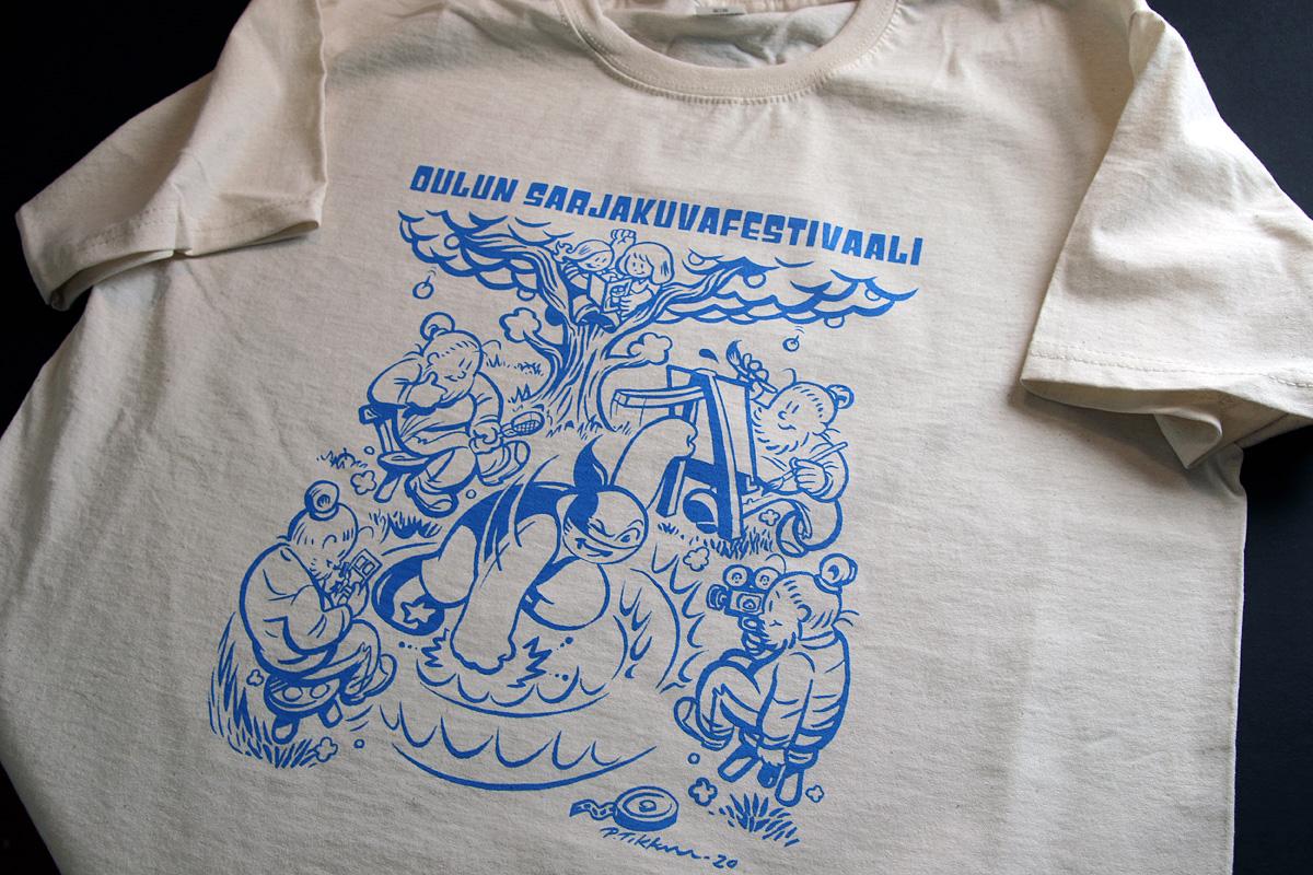 Oulun Sarjakuvafestivaali 2020 - 1-värinen silkkipainettu t-paita