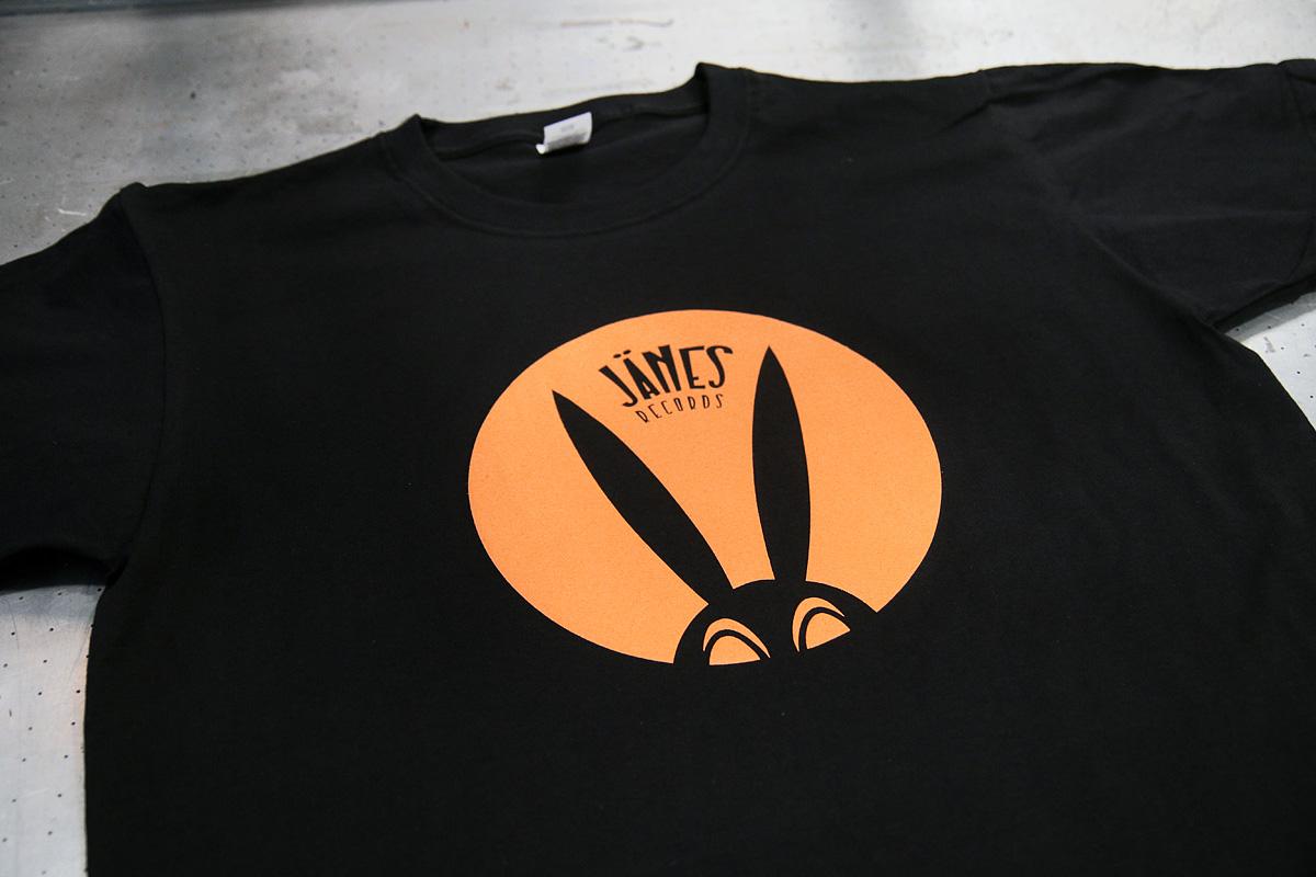 Jänes Records - silkkipainettu t-paita